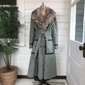 Vintage 70's Faux Fur Long Penny Lane Coat